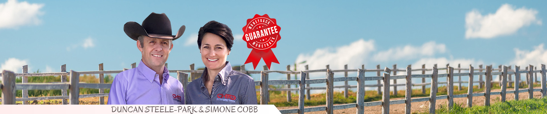 Duncan Steel-Park and Simone Cobb, founders of Cutting Horse Training Online, offer a money-back guarantee of their cutting horse video training